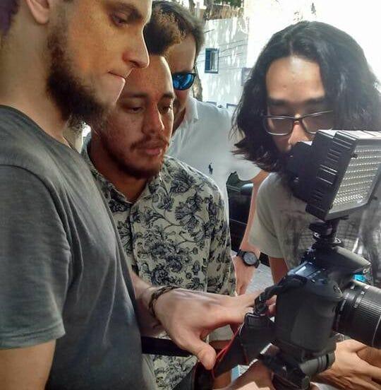 Diego mostrando a técnica